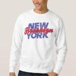 Brooklyn Nueva York - azul y rojo Sudadera