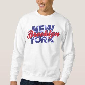 Brooklyn Nueva York - azul y rojo Suéter