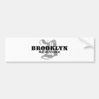 Brooklyn NY Etiqueta De Parachoque