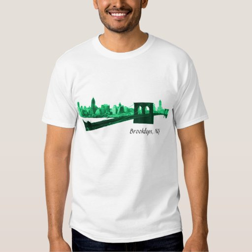 Brooklyn, NY in green hues Tee Shirt