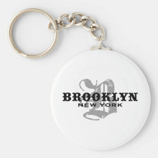 Brooklyn NY Basic Round Button Keychain