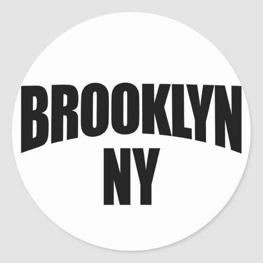 Brooklyn NY New York Classic Round Sticker