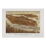 Brooklyn, NY Panoramic Map - 1877  Posters