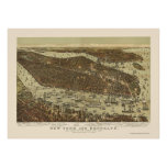 Brooklyn, NY Panoramic Map - 1892 Poster