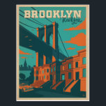 "Brooklyn, NY Postcard<br><div class=""desc"">Anderson Design Group is an award-winning illustration and design firm in Nashville,  Tennessee. Founder Joel Anderson directs a team of talented artists to create original poster art that looks like classic vintage advertising prints from the 1920s to the 1960s.</div>"