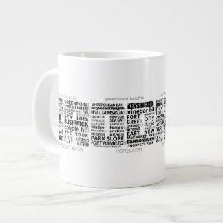 Brooklyn NY Typography Design Large Coffee Mug