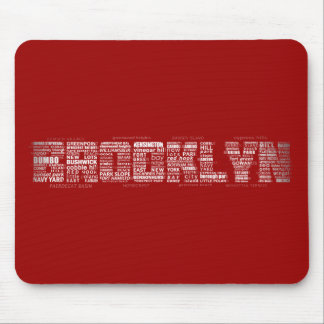 Brooklyn NY Typography Design Mouse Pad