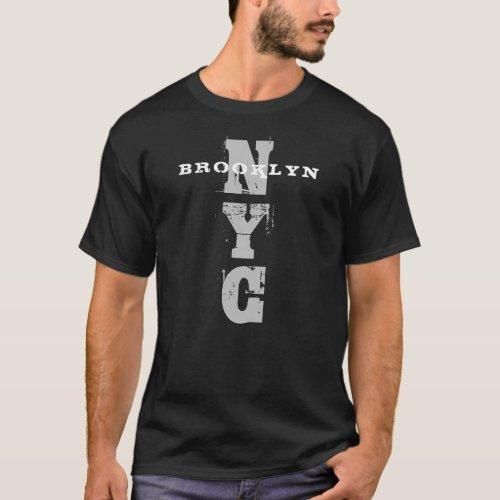 Brooklyn Nyc Black Trendy Template New York City T_Shirt