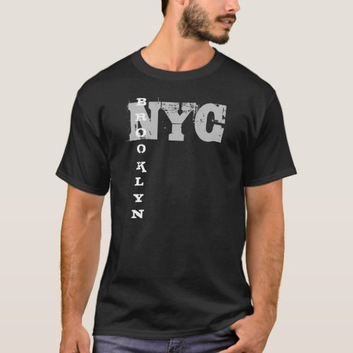 Brooklyn Nyc Elegant Black Template New York City T_Shirt