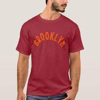 Brooklyn NYC Old School Text shirt - orange