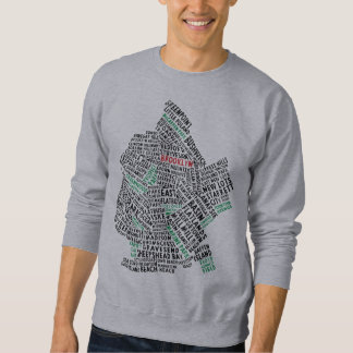 Brooklyn NYC Typography Map Sweatshirt