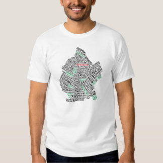Brooklyn NYC Typography Map T Shirts