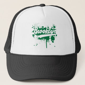 Brooklyn Painted Green Hat