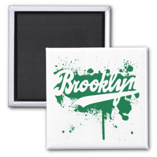 Brooklyn Painted Green Magnet