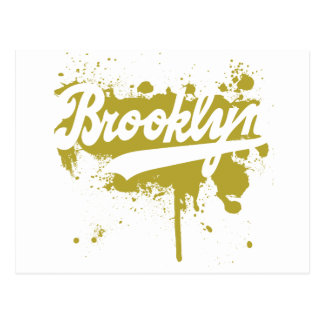 Brooklyn Painted Mustard Postcard