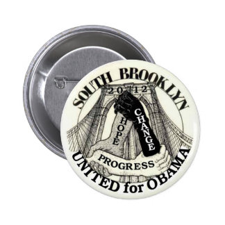 Brooklyn para Obama 2012 Pin Redondo 5 Cm