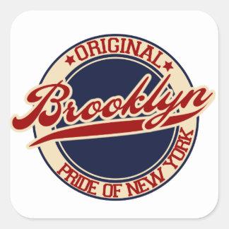 Brooklyn Pegatina Cuadrada