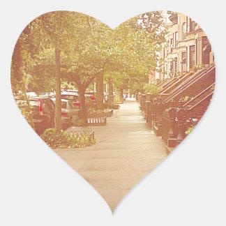 Brooklyn Pegatina En Forma De Corazón