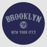 *Brooklyn Pegatina Redonda