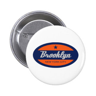 *Brooklyn Pin Redondo De 2 Pulgadas