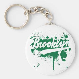 Brooklyn pintó llavero verde