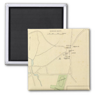 Brooklyn, Plainfield, Windham Center 2 Inch Square Magnet