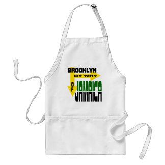 Brooklyn por Jamaica con las flechas Delantal