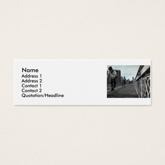 Brooklyn Rider , Name, Address 1, Address 2, C... Mini Business Card