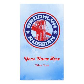 Brooklyn Russian American Custom Business Cards