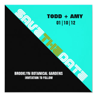 Brooklyn Save the Date:  Blue Avocado Card