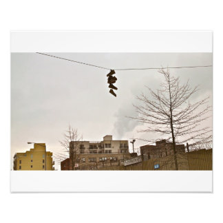 Brooklyn- Sneakers on a Wire Photo Art