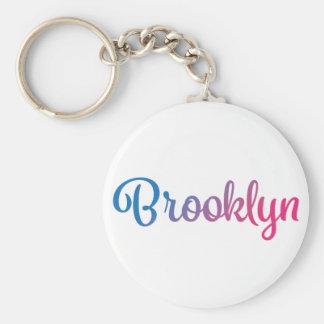 Brooklyn Stylish Cursive Keychain