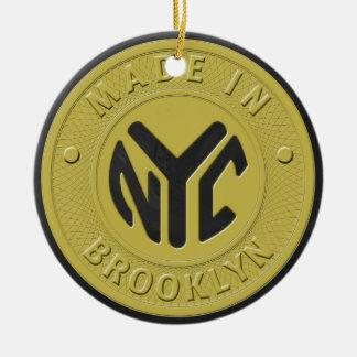 Brooklyn Subway Token Ceramic Ornament