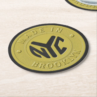 Brooklyn Subway Token Round Paper Coaster