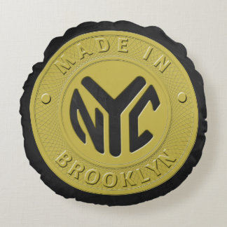 Brooklyn Subway Token Round Pillow
