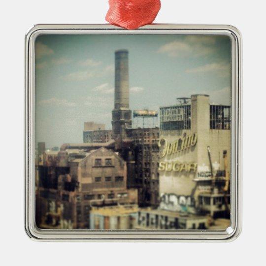 Brooklyn Sugar Factory Metal Ornament