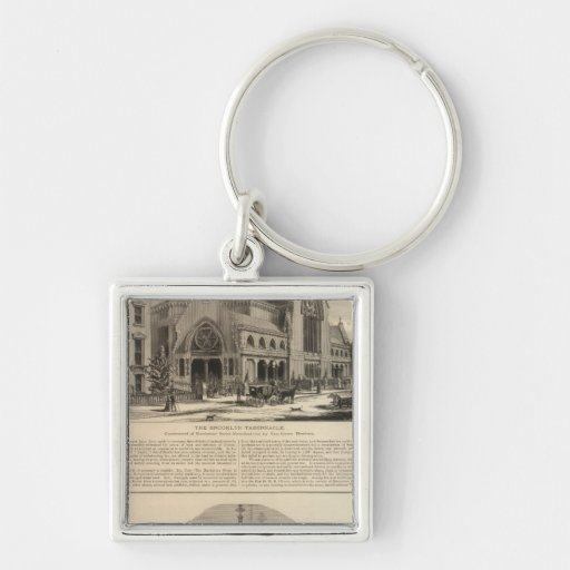 Brooklyn Tabernacle Great Organ Built Silver-Colored Square Keychain