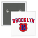 Brooklyn Throwback 2 Inch Square Button