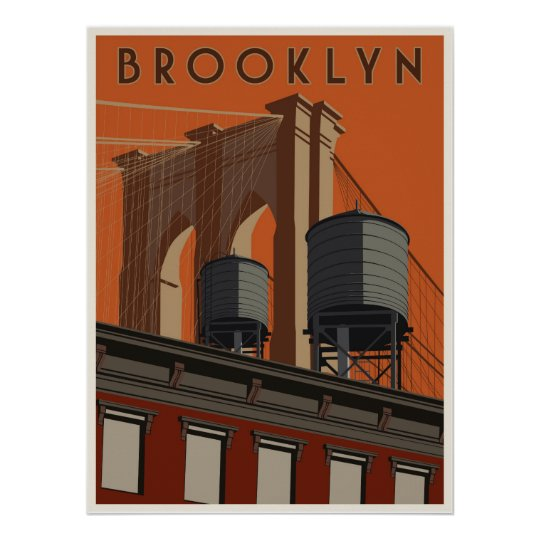 Brooklyn travel poster