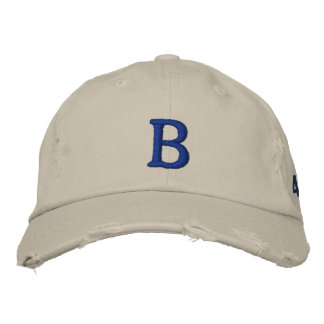Brooklyn Vintage BBall Cap -Distressed Chino Twill Embroidered Hat