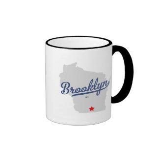 Brooklyn Wisconsin WI Shirt Ringer Coffee Mug