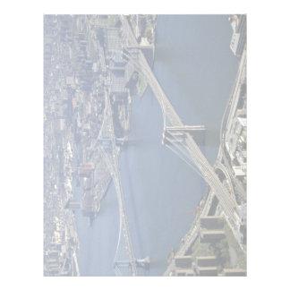 Brooklyn y Manhattan del aire, Nueva York, los E.E Membrete A Diseño