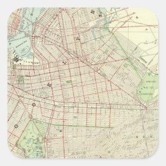 Brooklyn y vecindad colcomanias cuadradas personalizadas