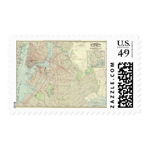 Brooklyn y vecindad timbres postales