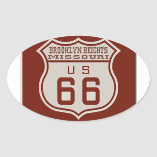 BROOKLYNHEIGHTS66 OVAL STICKER