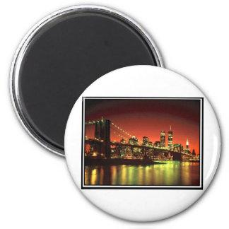 Brooklynn Bridge 2 Inch Round Magnet
