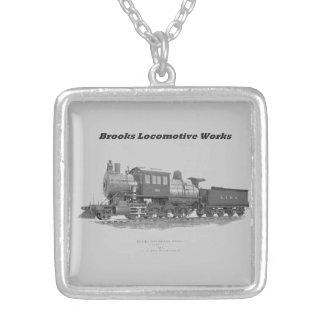 Brooks Camelback Locomotive, Long Island Railroad Square Pendant Necklace