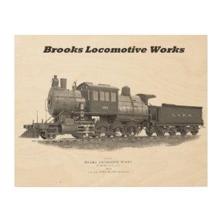 Brooks Camelback Locomotive, Long Island Railroad Wood Wall Art