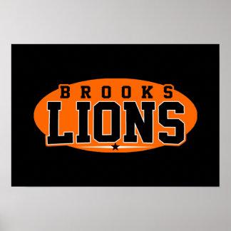 Brooks High School; Lions Print