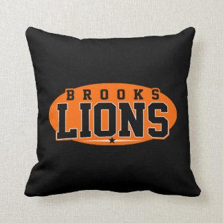 Brooks High School; Lions Throw Pillow